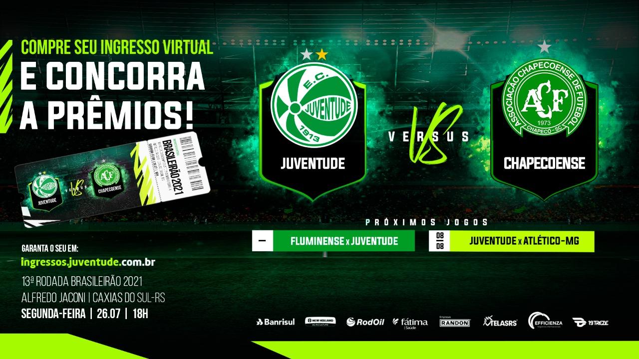 Ju inicia venda dos ingressos virtuais para o confronto contra a Chapecoense