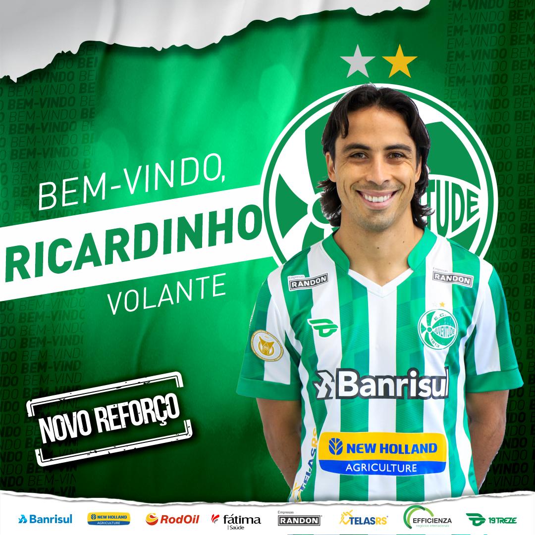 Juventude confirma a contratação do volante Ricardinho